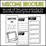 Welcome Brochure - An End of the School Year Activity