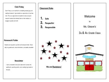 Back to School/Open House Welcome Brochure ***Editable***