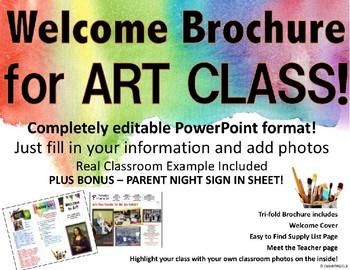 Back to School Art Brochure