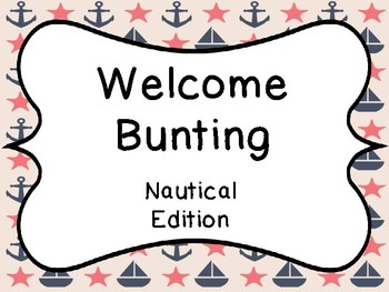 Welcome Bunting Banner Nautical Edition