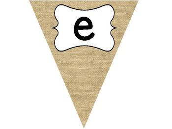 Welcome Bunting Banner Rustic Edition Burlap