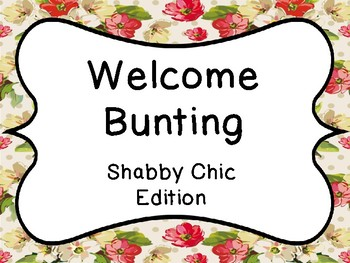 Welcome Bunting Banner Shabby Chic Edition
