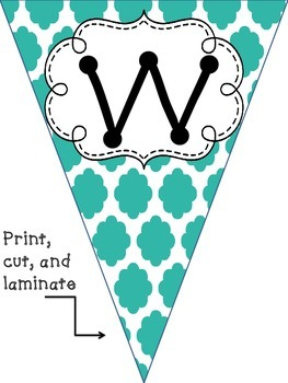 Welcome Bunting Banner (Turquoise)