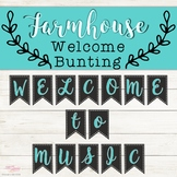 Welcome Bunting - Farmhouse Theme