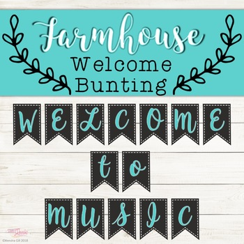 Welcome Bunting - Farmhouse Theme