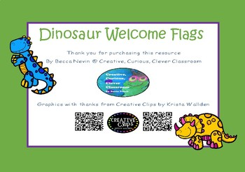 Welcome Bunting Flags - Dinosaur theme