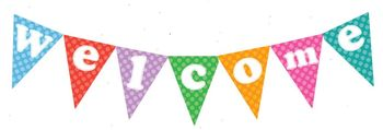 Welcome Bunting Polka Dots Style