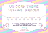 Welcome Bunting - Unicorn theme - class decor