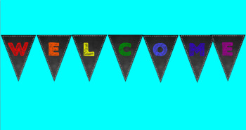 Welcome Chalkboard Themed Bunting