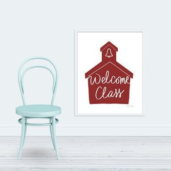 Welcome Class Poster 18 x 24