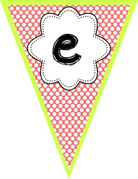 Welcome Class- coral and cucumber polka dot bunting banner