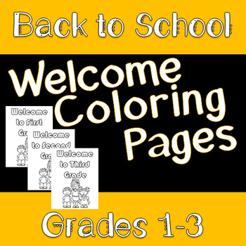 Welcome Coloring Pages-Freebie