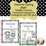 Welcome Coloring pages (Preschool, Transitional Kindergarten, Kinder, First