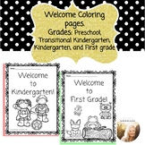 Welcome Coloring pages (Preschool, Transitional Kindergart