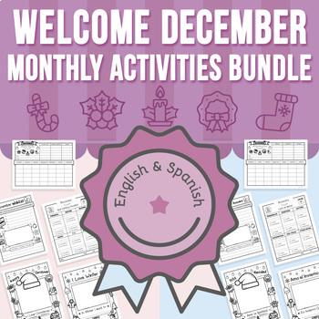 Welcome December - Monthly Activities BUNDLE