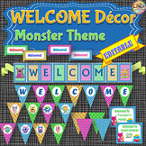 MONSTERS Themed WELCOME Classroom Decor, for Doors, Walls and Bulletin Boards