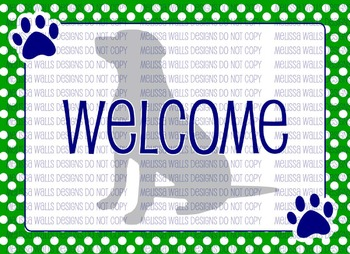 Welcome Dog Silhouette Postcard