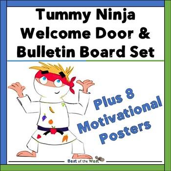 Welcome Door/ Bulletin Board Set - Tummy Ninja Themed