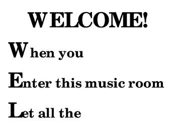 Welcome Door Poster