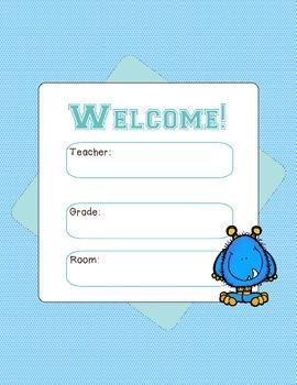 Free Downloads - Welcome Door Poster - Monster theme