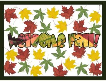 Welcome Fall Bulletin Board Sign