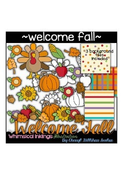 Welcome Fall Clipart Collection