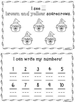 Welcome Fall! - Numbers 1-10 Handwriting Practice Book