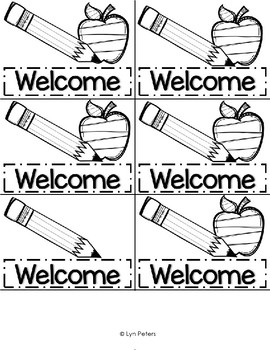 Welcome Flipbook | First Day of School