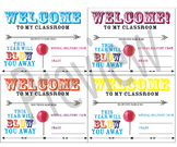 Welcome Gift Tags for Teachers (Attach to Blow Pop)