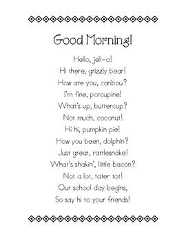 Welcome & Goodbye Poems