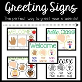 Welcome Greeting Signs- Updated