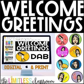 Bitmoji Greeting Worksheets & Teaching Resources | TpT
