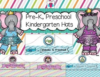 Welcome Hats Pre-K, Preschool, Kindergarten
