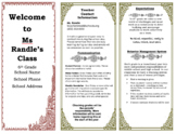Welcome Information Tri-Fold