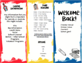 Welcome Information Tri Fold {EDITABLE}
