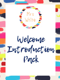 Welcome Introduction Pack