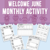Welcome June - Monthly Activity (Distance Learning)