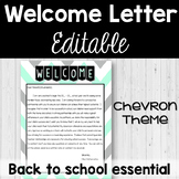 Welcome Letter - Back to School Essential