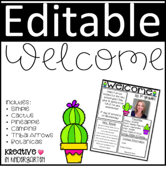 Welcome Letter- Editable
