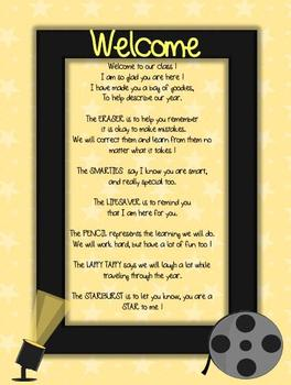 Welcome Letter Hollywood Theme