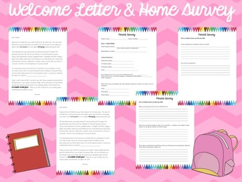 Welcome Letter & Home Survey