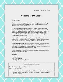 Welcome Letter-Lattice
