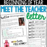 Welcome Letter/ Meet the Teacher Letter- Editable!