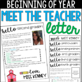 Welcome Letter/ Meet the Teacher Letter- Editable! Virtual PDF