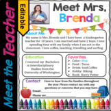 Welcome Letter, Meet the Teacher Template EDITABLE, Supply List   Back to School