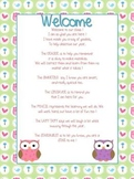 Welcome Letter Owl Theme