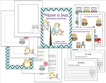 Welcome Letter - Owl Theme (English and Spanish)