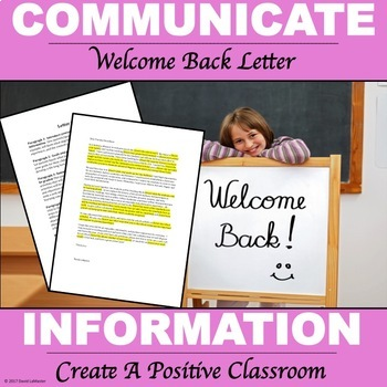 "Parent Welcome Letter Packet ""Editable"""