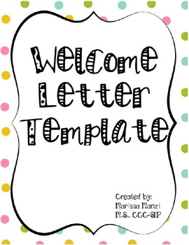 welcome letter template teaching resources teachers pay teachers