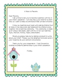 Welcome Letter and Beginning of the year Questionnaire
